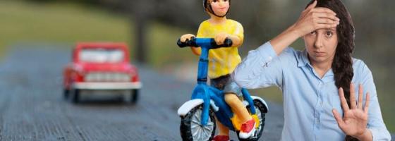 Сбили велосипед